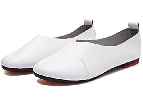 Kunsto Kvinners Ekte Skinn Komfort Hanske Sko Ballett Flat (opp Til 55% Avslag) White