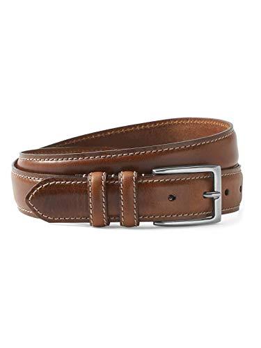 Edge Leather Feather - Eddie Bauer Men's Feather Edge Leather Belt, Cognac Regular 34