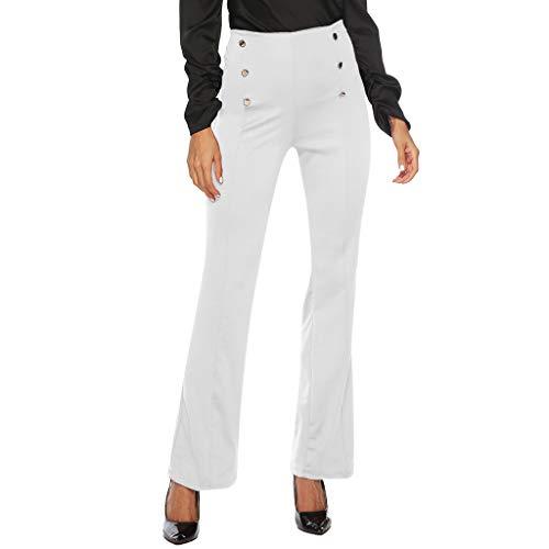 F_topbu Casual Pants for Women Summer Comfort Straight Leg Boot Cut Skinny Trousers Capri Tummy Control Pants