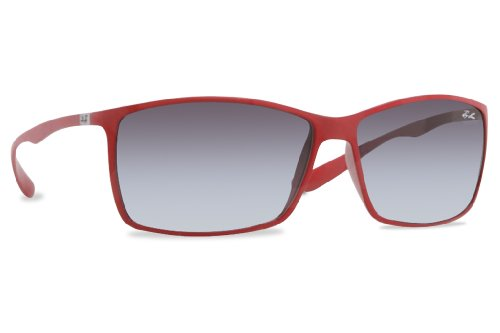 Ray Ban RB4179 Liteforce Sunglasses-60188G Red (Gray Gradient - Sunglasses Red Ban Ray