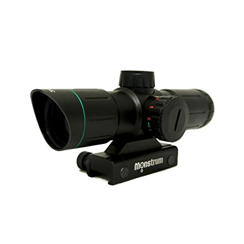 Monstrum Tactical 3x30 Ultra-Compact Rifle Scope with Illuminated Range Finder Reticle ()