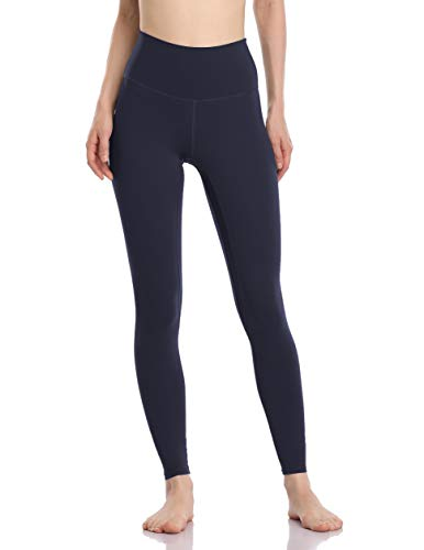 Colorfulkoala Women's Buttery Soft High Waisted Yoga Pants Full-Length Leggings (M, True Navy)