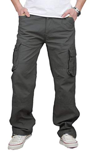 CATERTO Men's Spring Cargo Long Pants Outdoor Wear Lightweight(Army ()