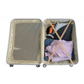with A2S Suitcase Spinner 55x35x22cm Lightweight Butterfly Bear Shell amp; 8 on Carry Cabin Polar Airplanes Bag Wheels Hard White Luggage Durable n8wBxr8v0q