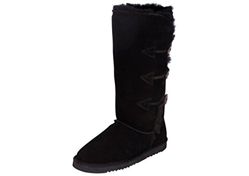 Kemi Classic Emily Triplet Toggle Ladies Winter Snow Boots - Fashionable Winter Boots for Women (8 B(M) US, Black) ()