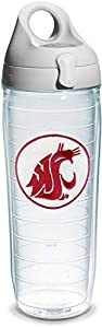 Tervis Washington State University Emblem Individual Water Bottle with Gray Lid, 24 oz, Clear - 1073753