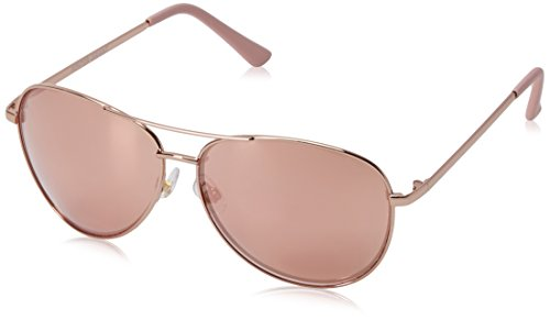 Foster Grant Women's Hannah Aviator Sunglasses, Rose, 60 - Gold Rose Aviators
