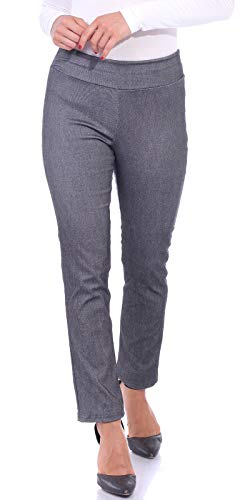 Popana Womens Stretch Pull On Dress Pants Ankle Length Work Casual - Made in USA Medium (Like Dress Pants)