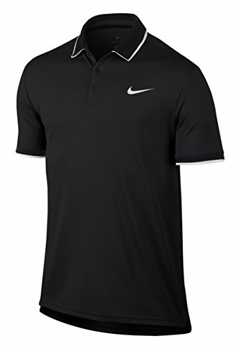 Nike- Court Dry Polo Black/Black/Ghost Green/White (Small)