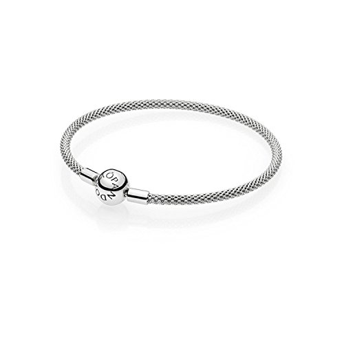 PANDORA Mesh Bracelet in Sterling Silver with Titanium Core Size: 17cm /6.7 Inches - 596543-17