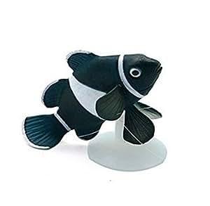 Cristoferv Negro Blanco Fluorescente Lindo pequeño pez Payaso Peces Acuario Decoraciones 1pcs: Amazon.es: Productos para mascotas