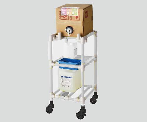 ナビス(アズワン)8-6547-01キュービテナーカート(抗菌防カビイレクター(R))クリームグレー   B07BD46HZ8
