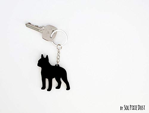 Boston Terrier - Keychain Silhouette