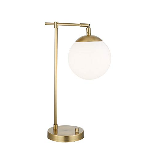 Rivet Modern Gold Globe Table Lamp 22