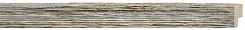 Picture Frame Moulding (Wood) 18ft bundle - Distressed/Aged Contrast Grey Finish - 1
