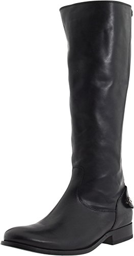 FRYE Women's Melissa Button Back-Zip Boot, Black Smooth - Frye Melissa Black Boot