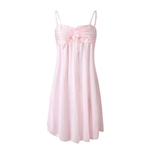 Big Sale YetouWomen Lingerie Sleepwear Womens Sexy Lingerie Satin Pajamas Cami Shorts Set Nightwear Pink