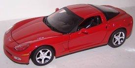 - Motormax 1/24 Scale Diecast 2005 Chevrolet Corvette C6 in Color Red