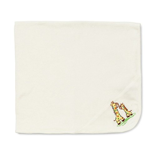 "Baby Blanket Organic Cotton 29.5""x 31"" Baby Toddler Dream Blanket Baby Receiving Bedding Blankets (White)"