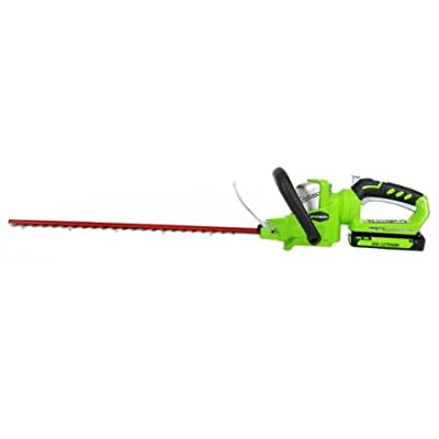"""GreenWorks 22262 40V 24"""" Cordless Hedge Trimmer, Includes 2Ah Battery and Charger"""