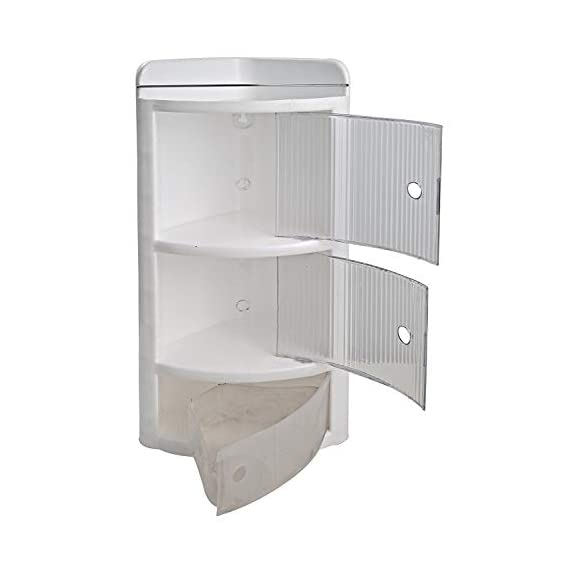 Yo India Home Decor Crystal Corner Shelves for Bathroom (Clear, 7 Inch, 9 Inch, 11 Inch) -3 Pieces