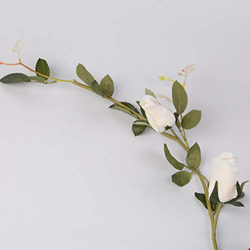LUSHIDI-59Ft-Artificial-Rose-Vine-Silk-Flower-Garland-Hanging-Vines-Home-Outdoor-Wedding-Arch-Garden-Wall-DecorPack-of-1-Ivory