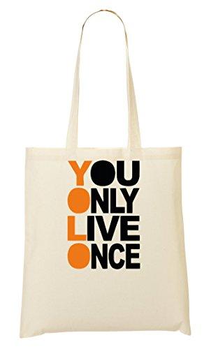 Yolo Font Graphics Handbag Shopping Bag