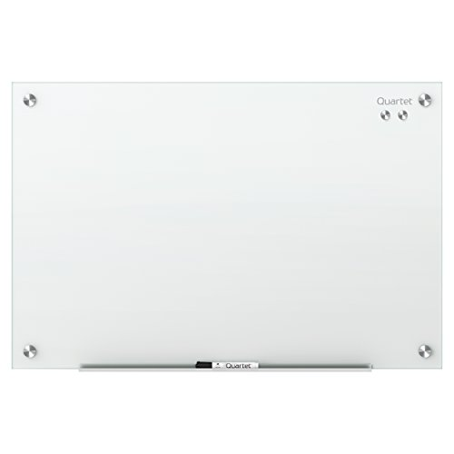 Quartet Glass Dry Erase Board, Magnetic, Whiteboard / White Board 6' x 4', White Surface, Frameless, Infinity (G7248W) by Quartet