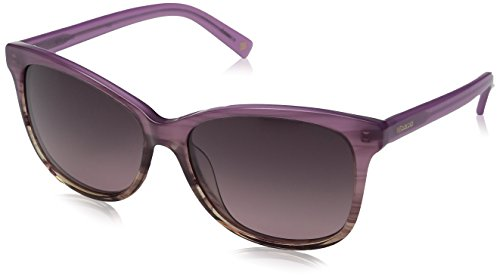 (Polaroid Sunglasses Women's Pld4022s Rectangular Sunglasses, Shaded Cyclamen/Burgundy Gradient, 57 mm)