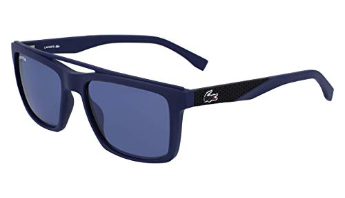 (Lacoste Men's L899s Rectangular Sunglasses, Blue Matte, 55.01 mm )