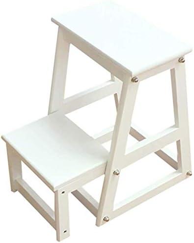 HOMRanger Taburete de Escalera Ensamblaje de Escalada de Seguridad portátil Plegable de Doble Uso MDF, Escalera de 2 peldaños, 2 tamaños de Doble Uso (Color: Blanco, tamaño: 50 cm de Alto): Amazon.es: Hogar