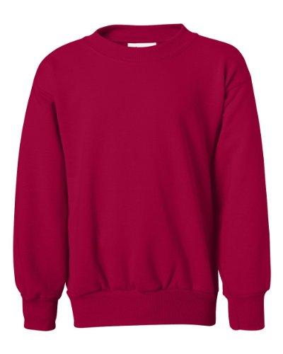 Design Kids Sweatshirt (Hanes Youth ComfortBlend Long Sleeve Fleece Crew - p360, Red, Youth Large 14-16)