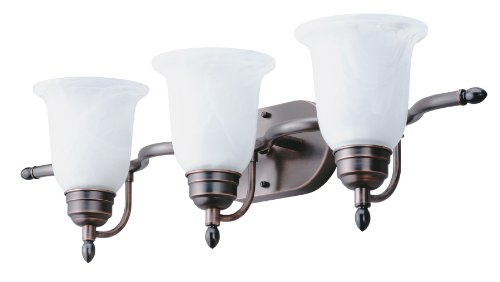 - Lithonia Lighting 11792 BZ M2 Light Concepts 3-Light Sheffield Bathroom Light Fixture, Black Bronze