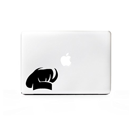 (2x) StickAny Laptop Series Chef Hat Sticker for Macbook Pro, Chromebook, Surface Pro, and More (Black)