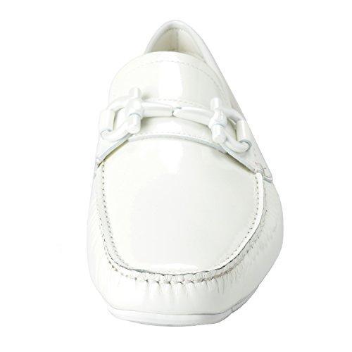 Salvatore Ferragamo Parigi NG Mens White Loafers Moccasins Casual Shoes US 6.5EE IT 5.5EE EU 39.5EE m4WV4sxe