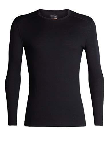 - Icebreaker Merino Men's 200 Oasis Long Sleeve Crewe, Black, L