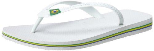 Havaianas Men's Brazil Logo Flip Flops,White,41/42 BR (9/10 M - Havianas Men For
