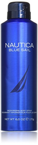 Nautica Blue Sail Deodorizing Body Spray for Men, 6 Fluid Ounce Coty Blue Cologne