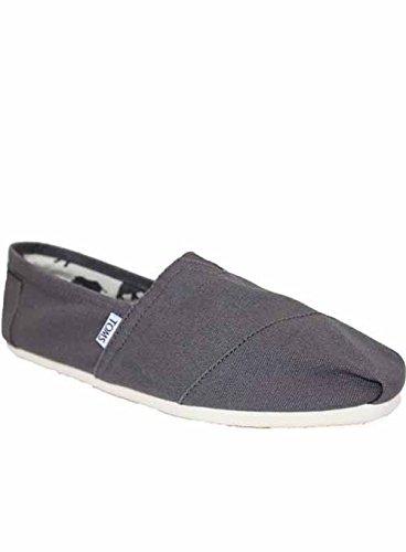 b38aede7485 M809F Toms Shoes Mens Grey Classics Espadrilles Pumps Plimsolls Uk 9 ...