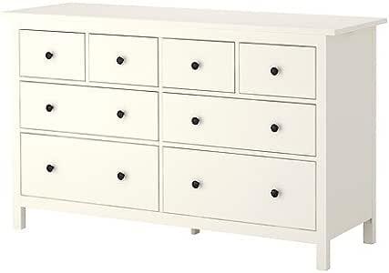 Ikea HEMNES - Pecho de 8 cajones, Blanco - 160x95 cm: Amazon.es: Hogar