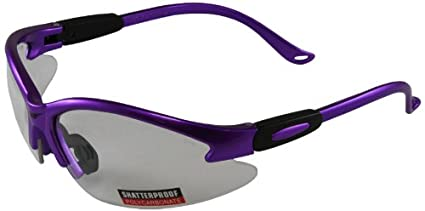 6afd16c8fd1 Amazon.com  Global Vision Safety Shop Glasses (Purple Frame Clear ...