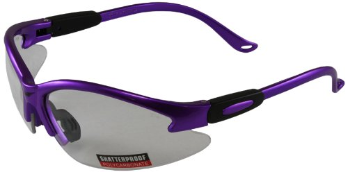 Global Vision Safety Shop Glasses (Purple Frame/Clear - Vision Frames Glasses
