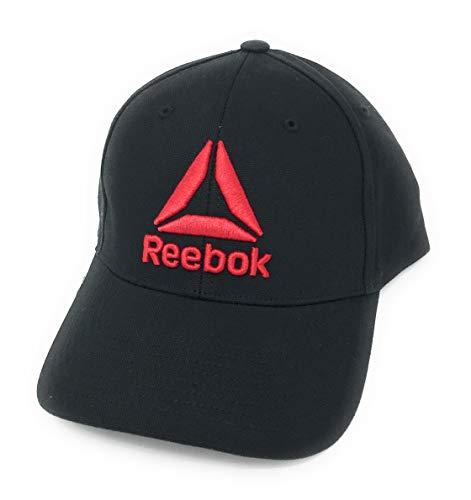 Reebok Delta Enhanced Baseball Cap, Black/Red, One Size (Mens Reebok Hats)