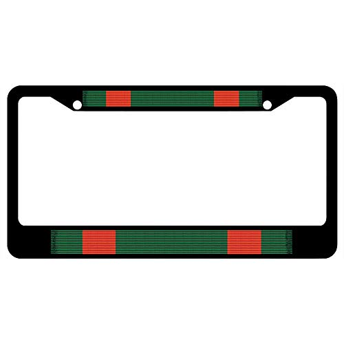 - URCustomPro Navy & Marine Corps Achievement Medal Ribbon Black License Plate Frame Military Pride, 2 Holes Stainless Steel Auto Car License Plate Cover Holder for US Standard
