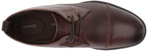 Clarks Mens Hinman Mid Chukka Boot, Mahogony, 10 M US