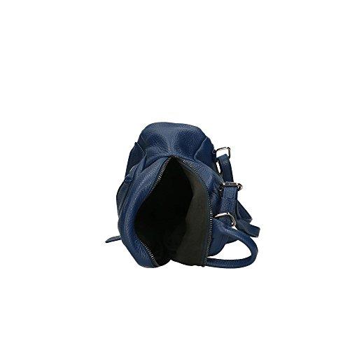 en cuir Bleu 17x20x11 véritable dos Cm Italy Sac femme in à Aren Made qxfwpC