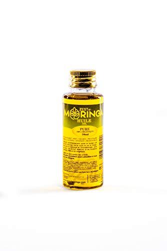 Moringa Oil - Antioxidant Serum - 100% Pure Moringa Seed Oil - Removes Blackheads - Reduced Stretch Marks - Elasticity Belly Oil - 50ml