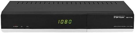 Opticum 12444 - Receptor de TV por satélite (Full HD, USB, Conector HDMI) Negro (Importado)