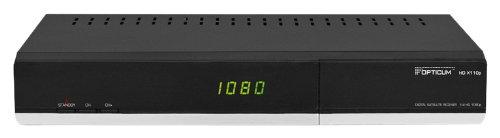 Opticum HD X110p HDTV Satellitenreceiver (CI-Schnittstelle, CONAX Kartenleser, Nicht geeignet für ORF-Karten sowie HD+ Karten (hierfür ist eine CI+ Schnittstelle notwendig), USB, HDMI Anschluss, FULL HD, 1080p) schwarz