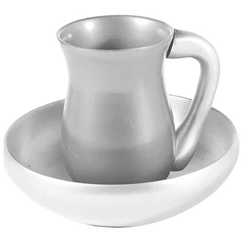 Anodized Aluminum Mayim Achronim Set / Silver -